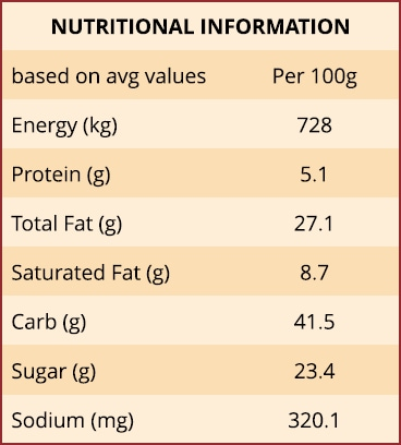American Chocolate Brownie Nutritional Information