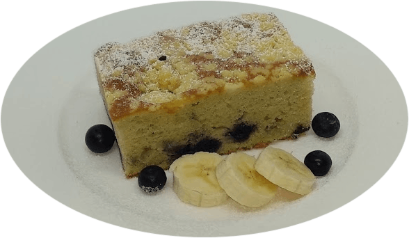 Banana Blueberry Crumble Slice