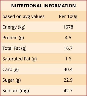 Lemon Berry Slice Nutritional Information